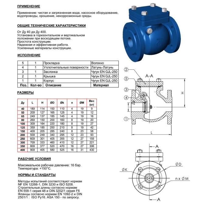 Клапан обратный CB3240